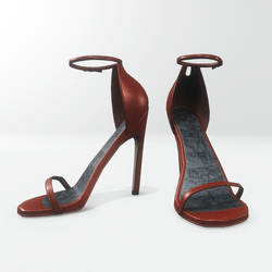 Ankle strap sandals for Nicci - leather cinnamon