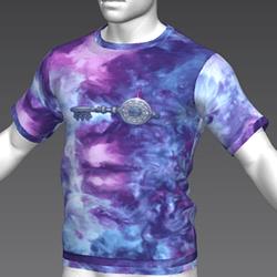 Ready Player One: Crystal Key T-Shirt (Tiedye) (M)