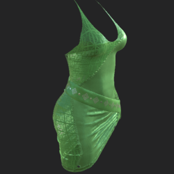 DIYA DRESS W TRANSP LIGHT GREEN
