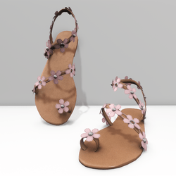 Ring toe sandals for Alina - pink