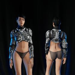 Sci-Fi Armor Top part 1/2 (white 2)