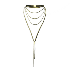 AV 2.0  Multi strand necklace - gold