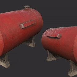 Gas Tank Red