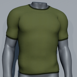 Men Plain TeeShirt - Green Khaki