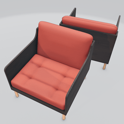 Chronicle Lounge Chair Orange