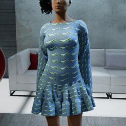 Bone Dress - blue-green