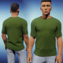 Mens One Pocket Tee - Green