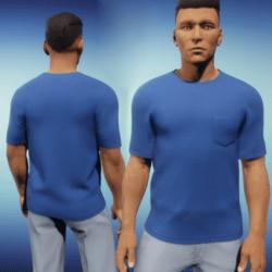 Mens One Pocket Tee - Blue