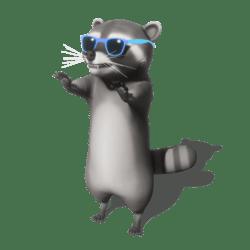 Raccoon (Blue Sunglasses) - Avatar