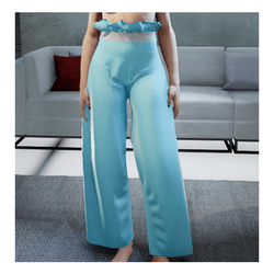 Loose Pants Light Blue