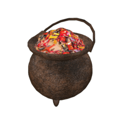 Halloween Cauldron with Candies
