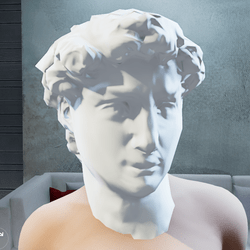 David Classic Statue head mask - Female