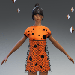 minidress orange