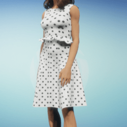 White dress with Dots2