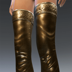 Rubber Latex Stockings Gold V2