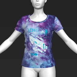 Ready Player One: Schematic T-Shirt (Tiedye) (W)