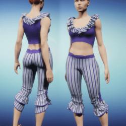 Ruffled Capris Set - Purple Outfit