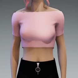 Basic Pastel Pink Crop Top