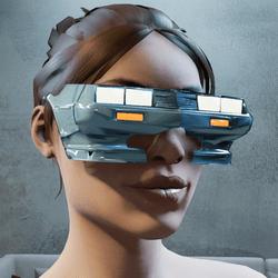 Cyberpunk Sunglasses Female Glowing Headlights