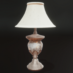 Attic Lamp with Bulb and Light Source