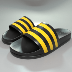 Sliders shoes YeLL Stripes male