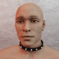 Necklace collar with studs - male