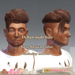 dyllan male hair (base brown ) infinity colors