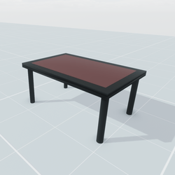 Table With Brown Center