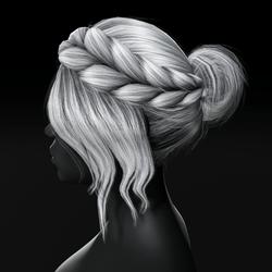 Kim - Braided Updo Bun Hair