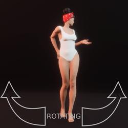 model pose 10 rotating