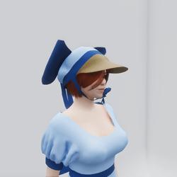 Old Fashioned Scottish Bonnet (Blue)