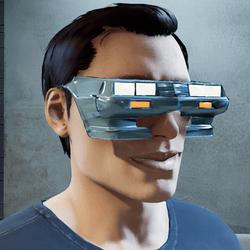 Cyberpunk Sunglasses Male Glowing Headlights