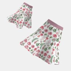 Short Rose Pattern Skirt