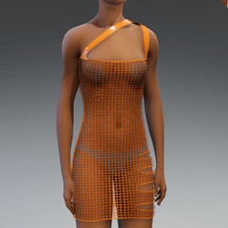Orange Lace Dress