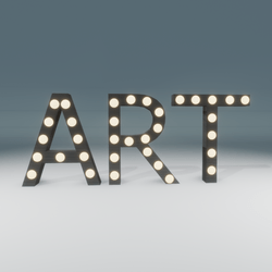 Art Marquee Blinking Sign