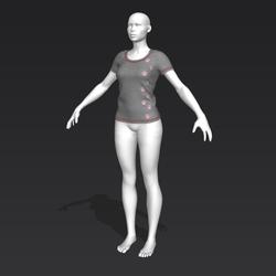 Alinity T-Shirt - Gray - Female