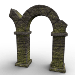 Ruins Destroyed Arch