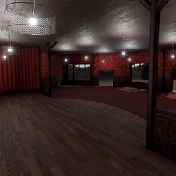 Corner Saloon - Red - With Ceiling Lamps