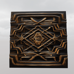 Art Deco Gold + Black Repeating Wall Section