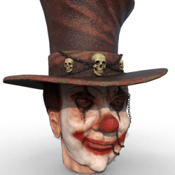 ClownHead_Statue_V01