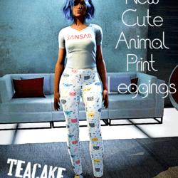 Ladies  dog&cat leggings