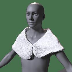 Fur shoulder hugger White