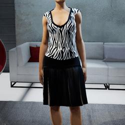Zebra Dress by ACpixl
