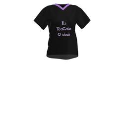 Ladies teacake purple o'clock -T-shirt