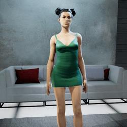 CLELIA strappy dress mint