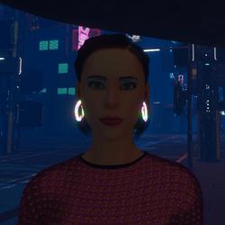 Female - Go-Glow Animated Loop Earrings