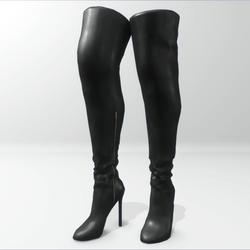 """""""Alina - Daisy"""" and Nicci avatar boots - black"""