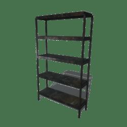 Metal rusted shelf