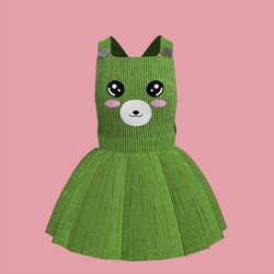 Corduroy Bear Overall Dress 06