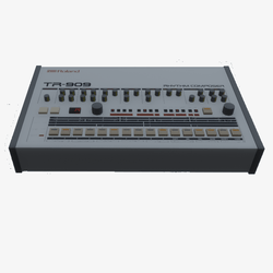 TR-909 Drum Machine - Playable